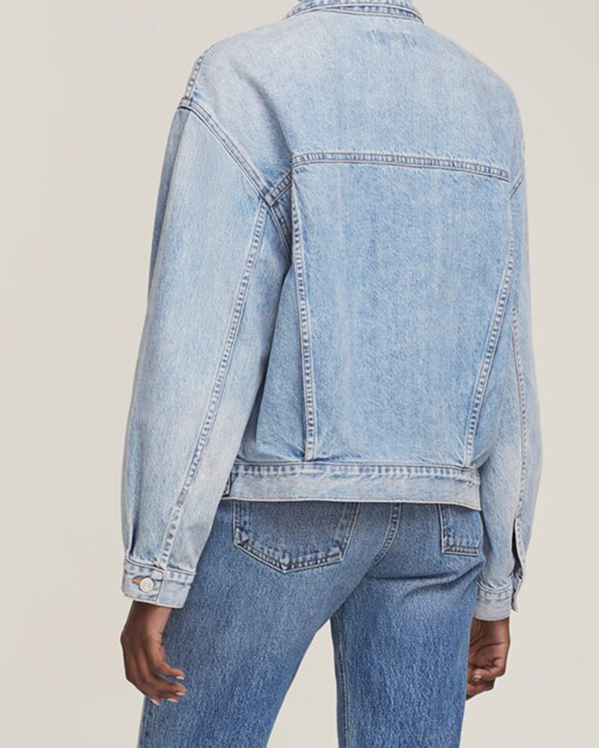 AGOLDE Jacket Charli Oversized Denim Jacket in Billboard