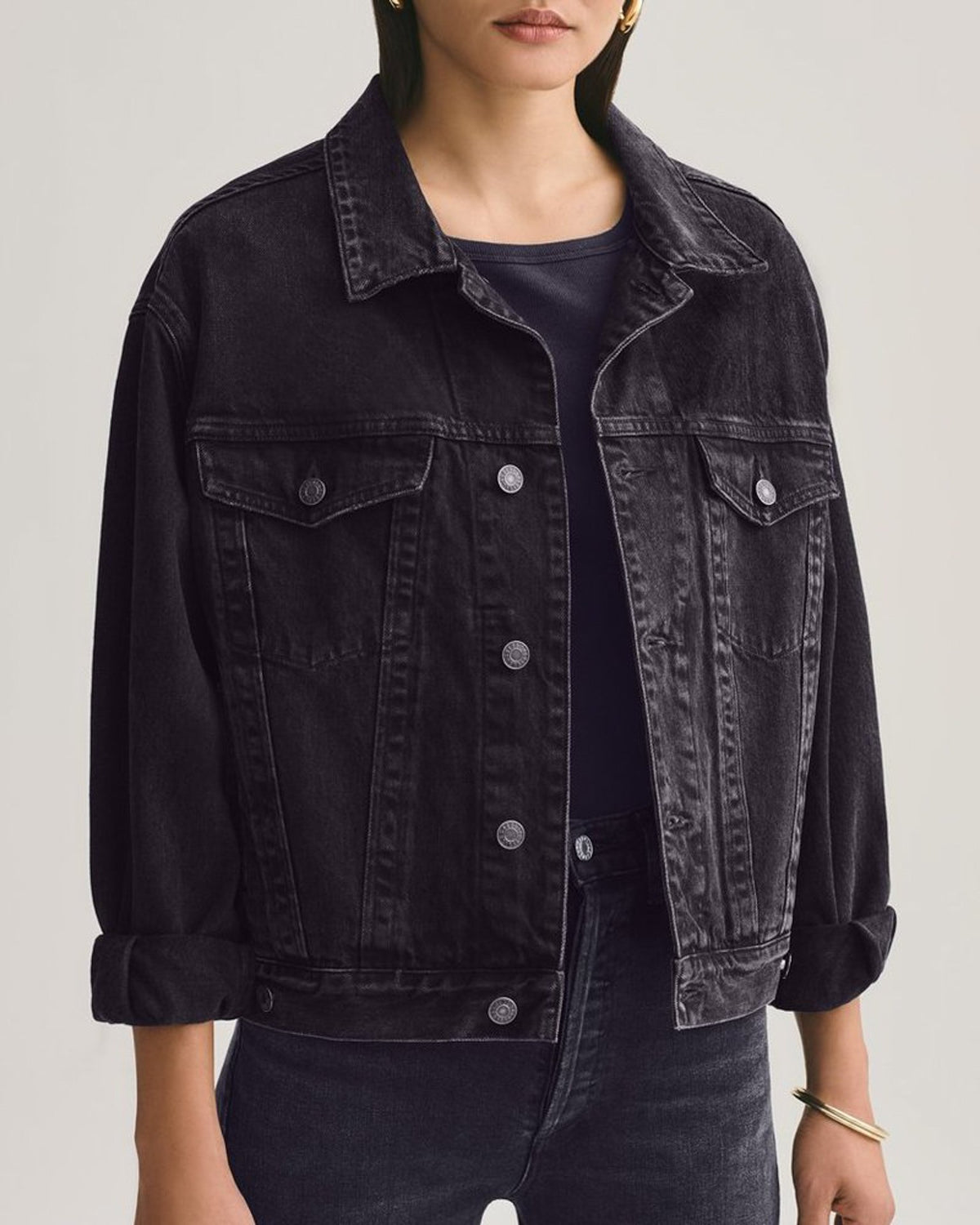 AGOLDE Denim Charli Oversized Jacket in Double Exposure