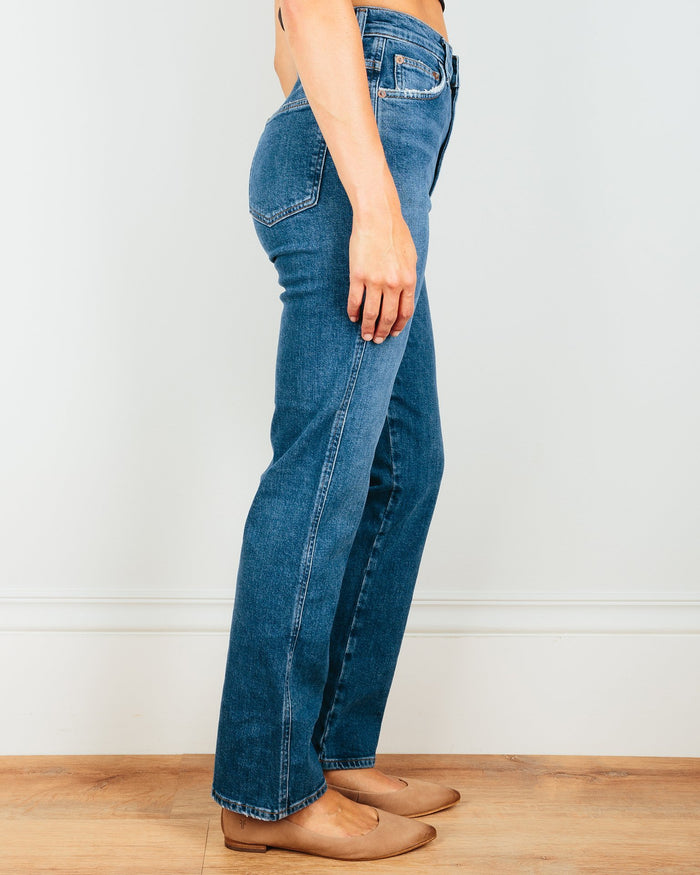 AGOLDE Denim Pinch Waist Hi Rise Kick in Subdued