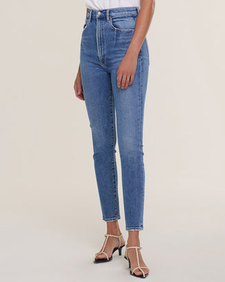 AGOLDE Denim Pinch Waist Hi Rise Skinny in Amped
