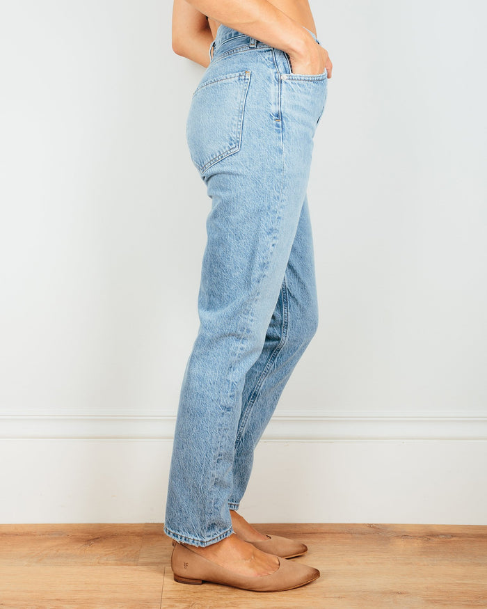AGOLDE Denim Riley Hi Rise Straight Crop in Blur
