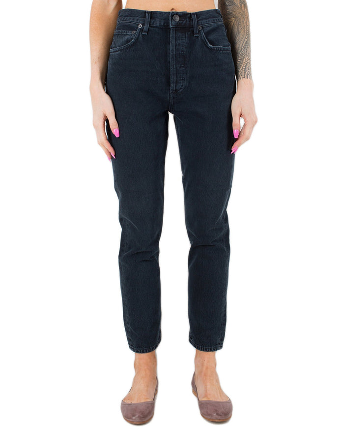 AGOLDE Denim Hideaway / 24 Riley Hi Rise Straight Crop in Hideaway