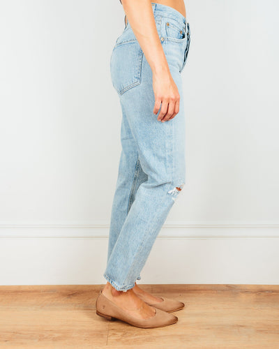 AGOLDE Denim Riley Hi Rise Straight Crop in Shatter