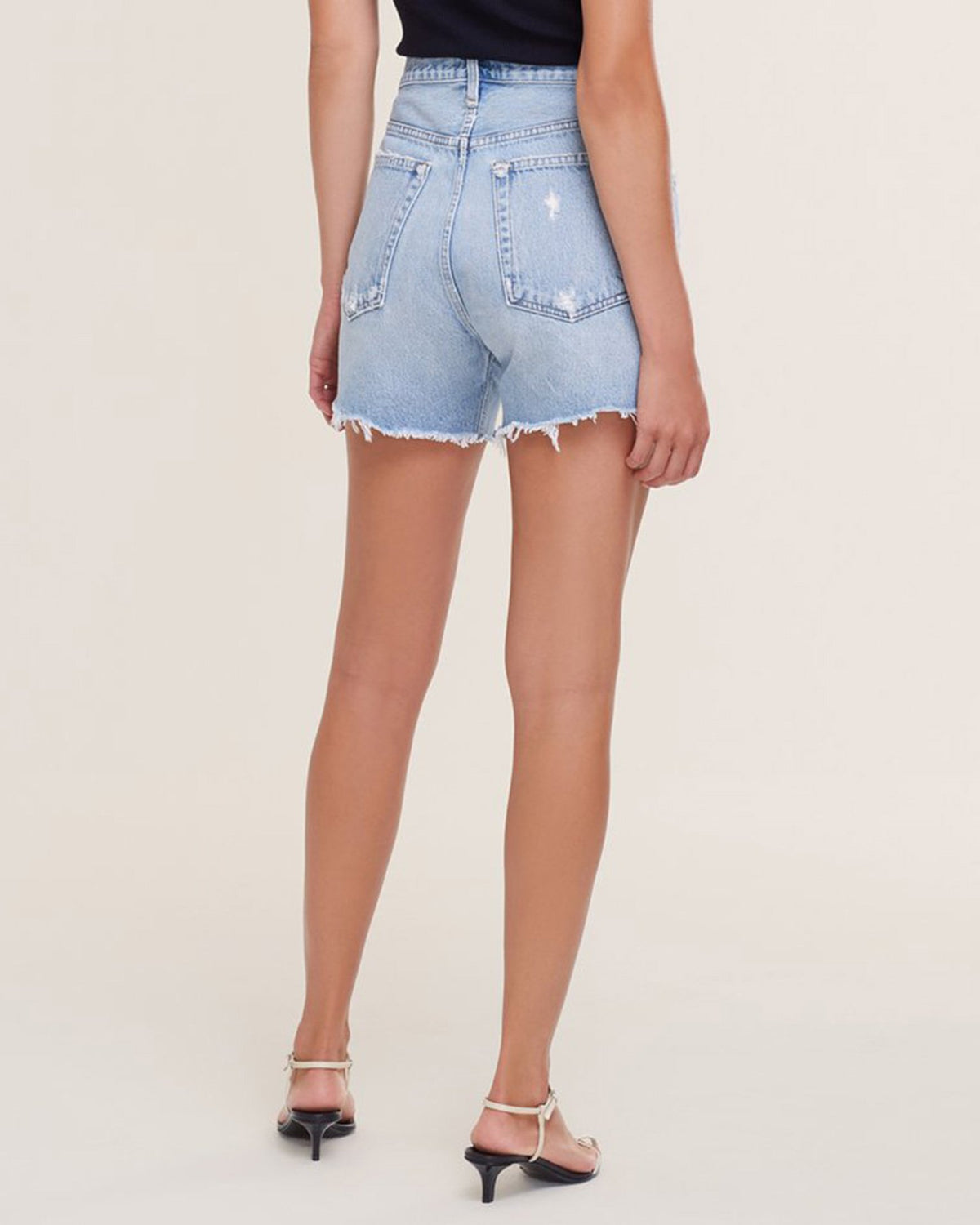 AGOLDE Denim Riley Short in Groove