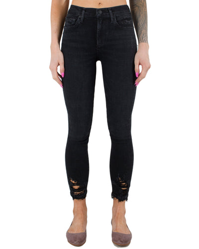 AGOLDE Denim Temple / 24 Sophie Hi Rise Skinny Crop in Temple