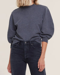 AGOLDE Clothing Thora Sweatshirt in Graphite Heather