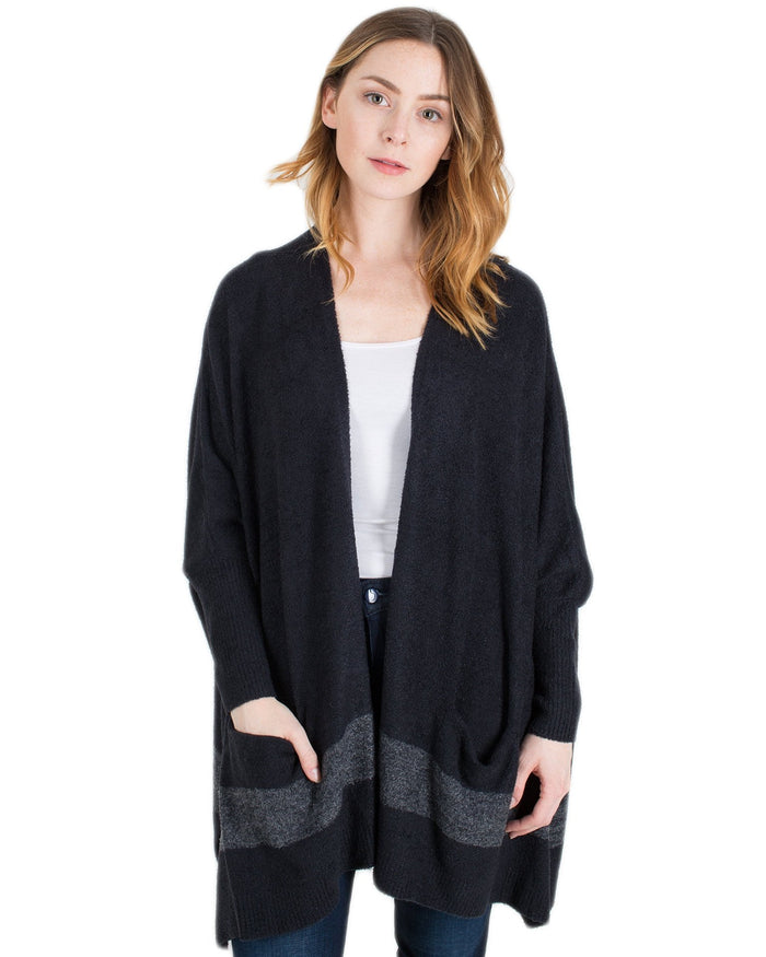 Barefoot Dreams Clothing Black/Graphite / O/S CCL Cliffside Wrap