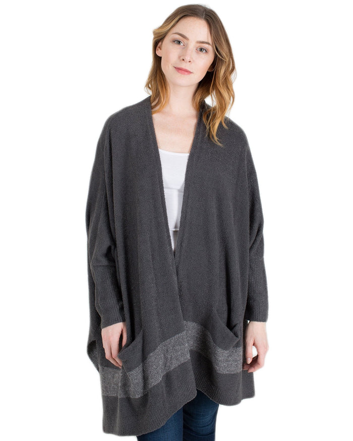 Barefoot Dreams Clothing Carbon/Pewter / O/S CCL Cliffside Wrap