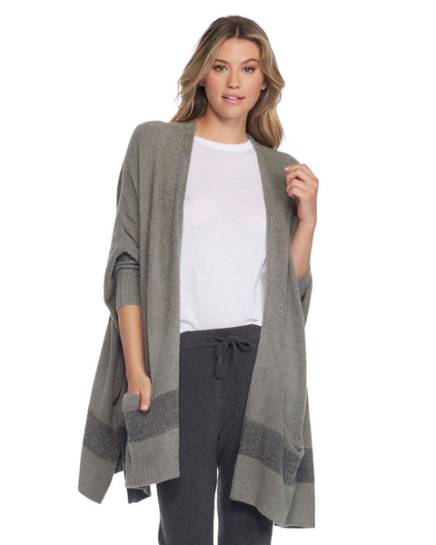 Barefoot Dreams Clothing Loden/Carbon / O/S CCL Cliffside Wrap