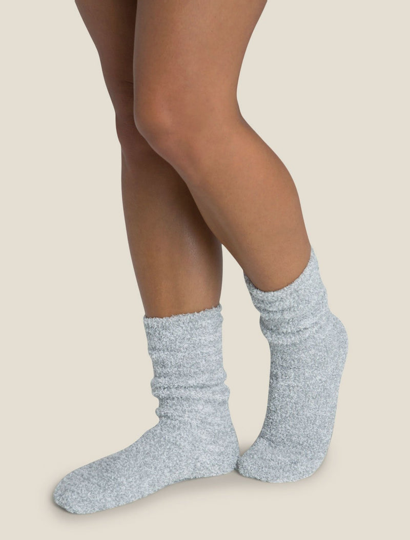 Barefoot Dreams Accessories Blue Water & White / O/S Cozychic Heathered Socks in Blue Water & White