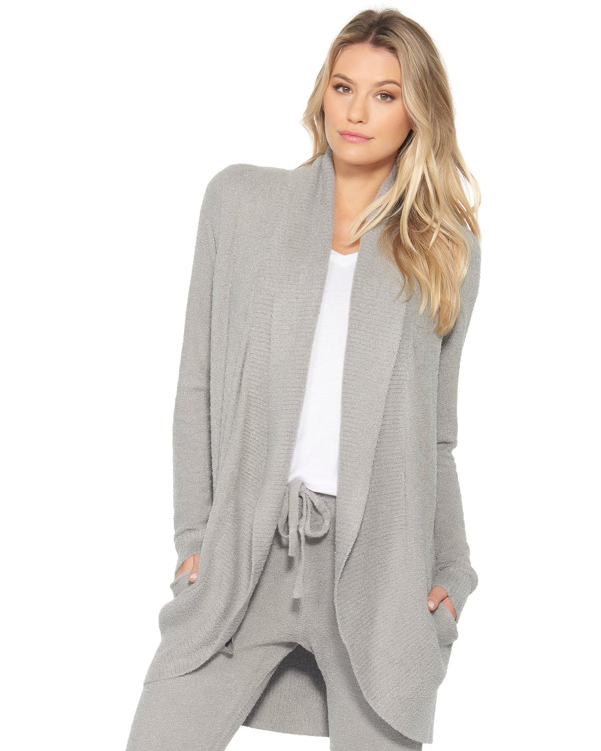 Barefoot Dreams Clothing Pewter / XS Cozychic Lite Circle Cardi