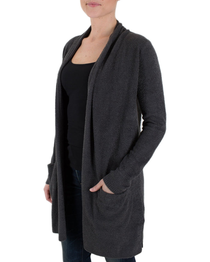 Barefoot Dreams Clothing Carbon / XS Cozychic Lite Essential Long Cardi