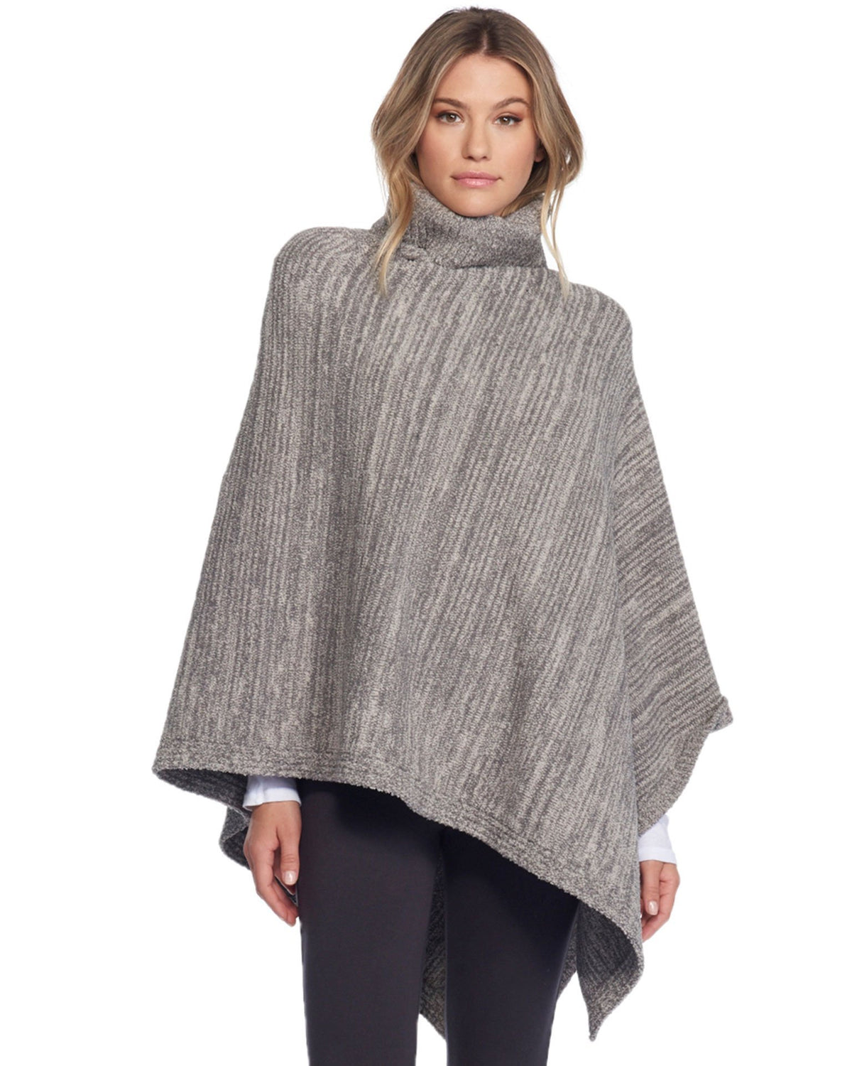 Barefoot Dreams Clothing Graphite/Stone / O/S Cozychic Point Dume Poncho