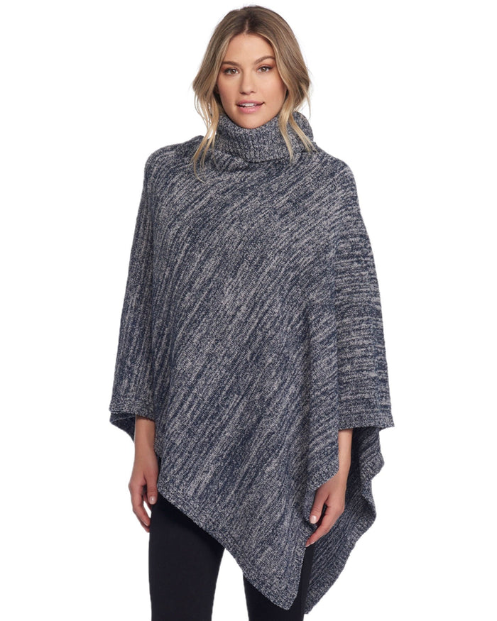 Barefoot Dreams Clothing Indigo/Dove Gray / O/S Cozychic Point Dume Poncho