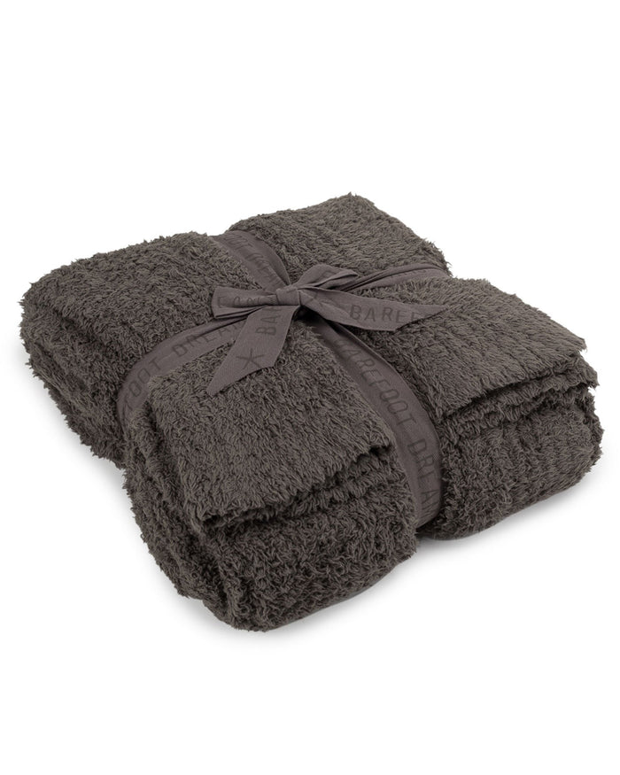 Barefoot Dreams Home Charcoal / O/S Cozychic Ribbed Throw