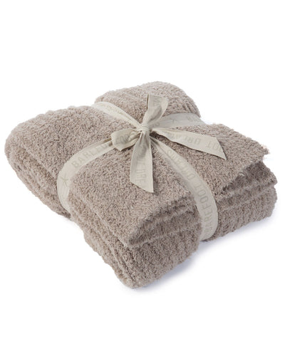 Barefoot Dreams Home Sand / O/S Cozychic Ribbed Throw