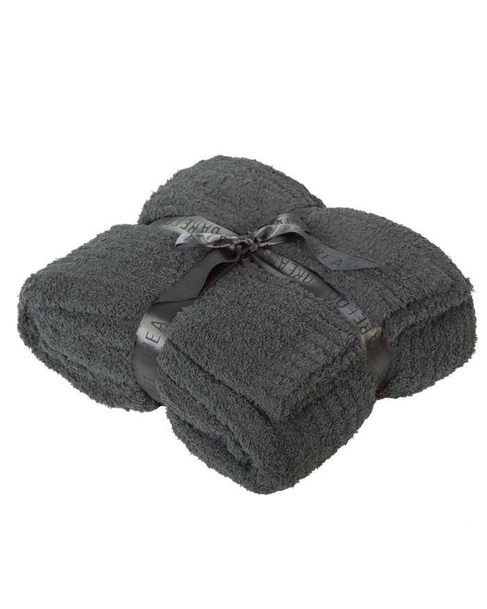 Barefoot Dreams Home Slate Blue / O/S Cozychic Ribbed Throw