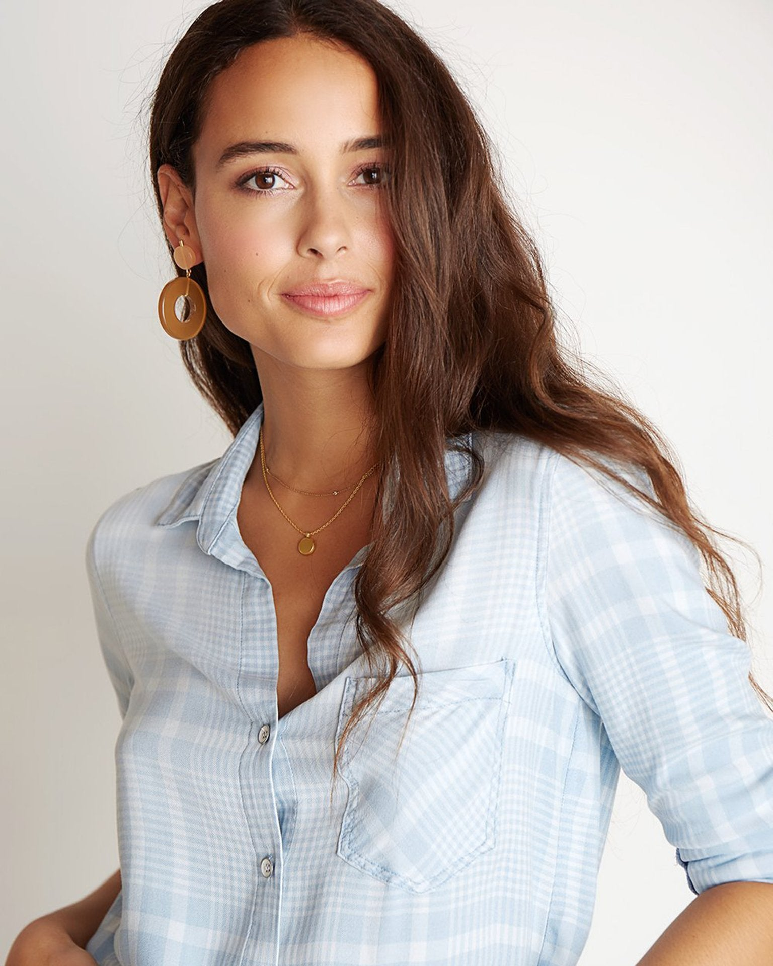 Bella Dahl Clothing Leon Wash / XS Pocket Button Down in Leon Wash