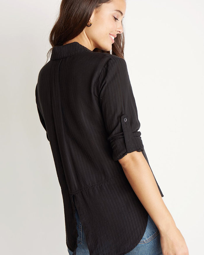 Bella Dahl Clothing Black / XS Spilt Back Button Down in Black