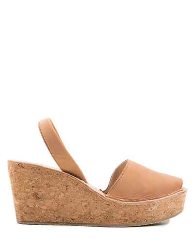 Calaxini Shoes Platform Wedge in Cuero Nubuck