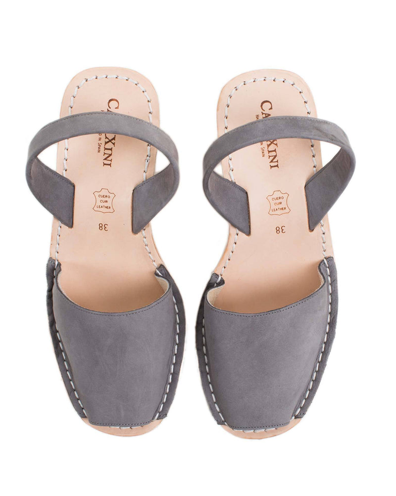Calaxini Shoes Gris Nubuck / EU 36 Platform Wedge in Gris Nubuck