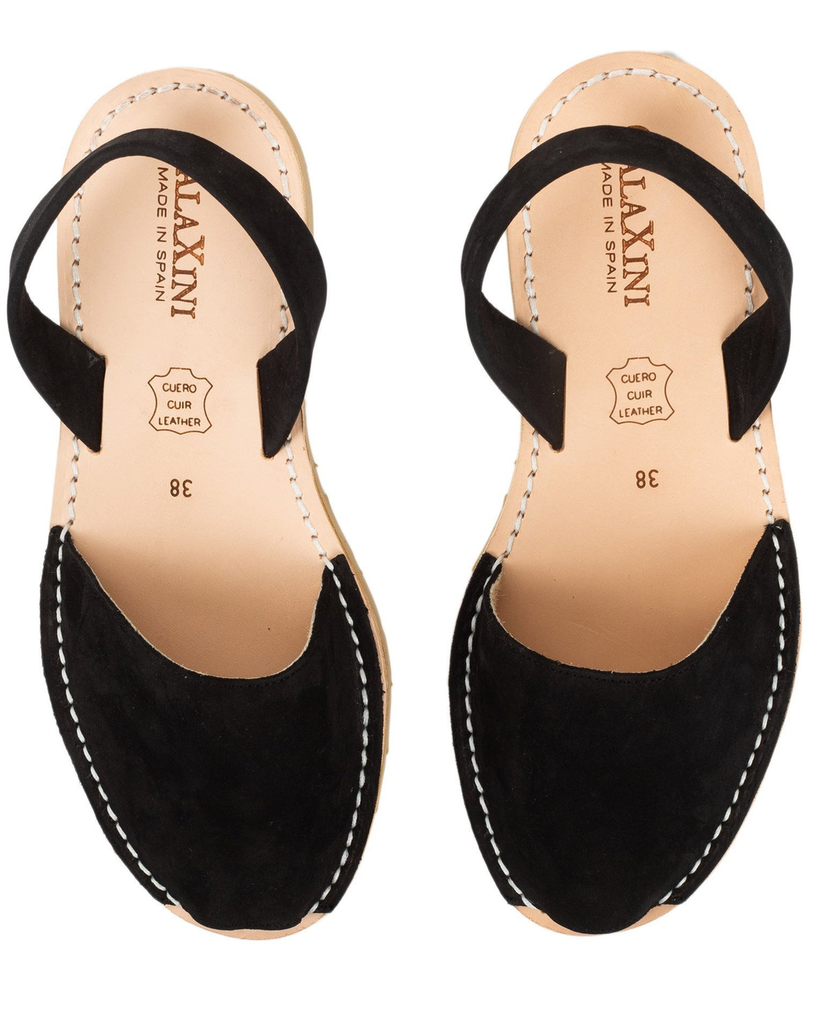 Calaxini Shoes Black Nubuck / EU 36 Verano Slide in Black Nubuck