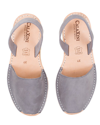 Calaxini Shoes Gris Nubuck / EU 36 Verano Slide in Gris Nubuck