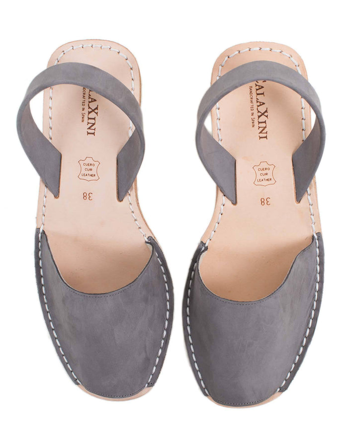 Calaxini Shoes Gris Nubuck / 36 Wedge Sandal