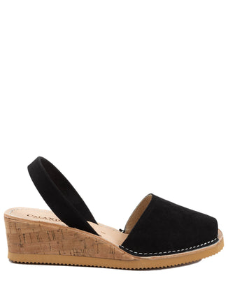 Calaxini Shoes Wedge Sandal in Black