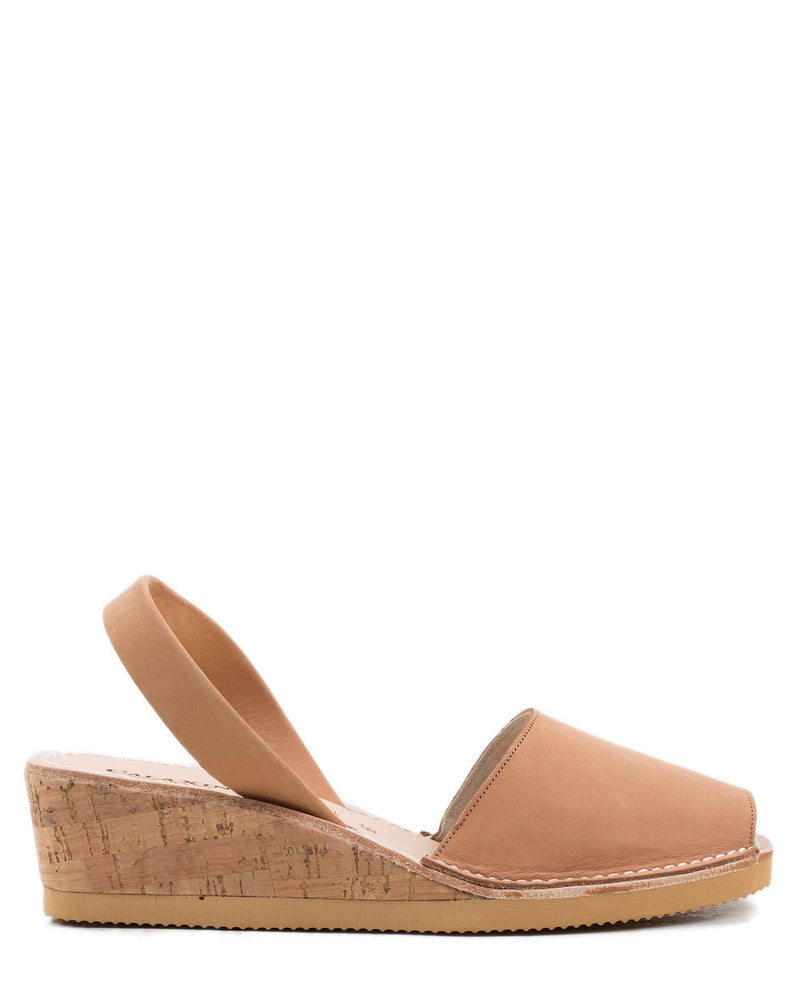 Calaxini Shoes Wedge Sandal in Cuero
