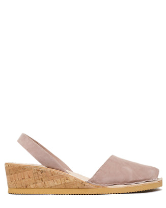 Calaxini Shoes Wedge Sandal in Nude