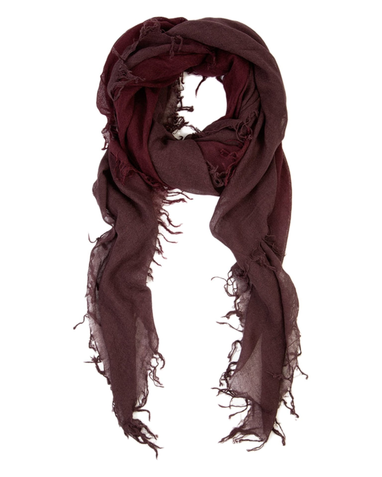 Chan Luu Accessories Fig/Huckleberry / O/S C/S Shadow Dye Scarf