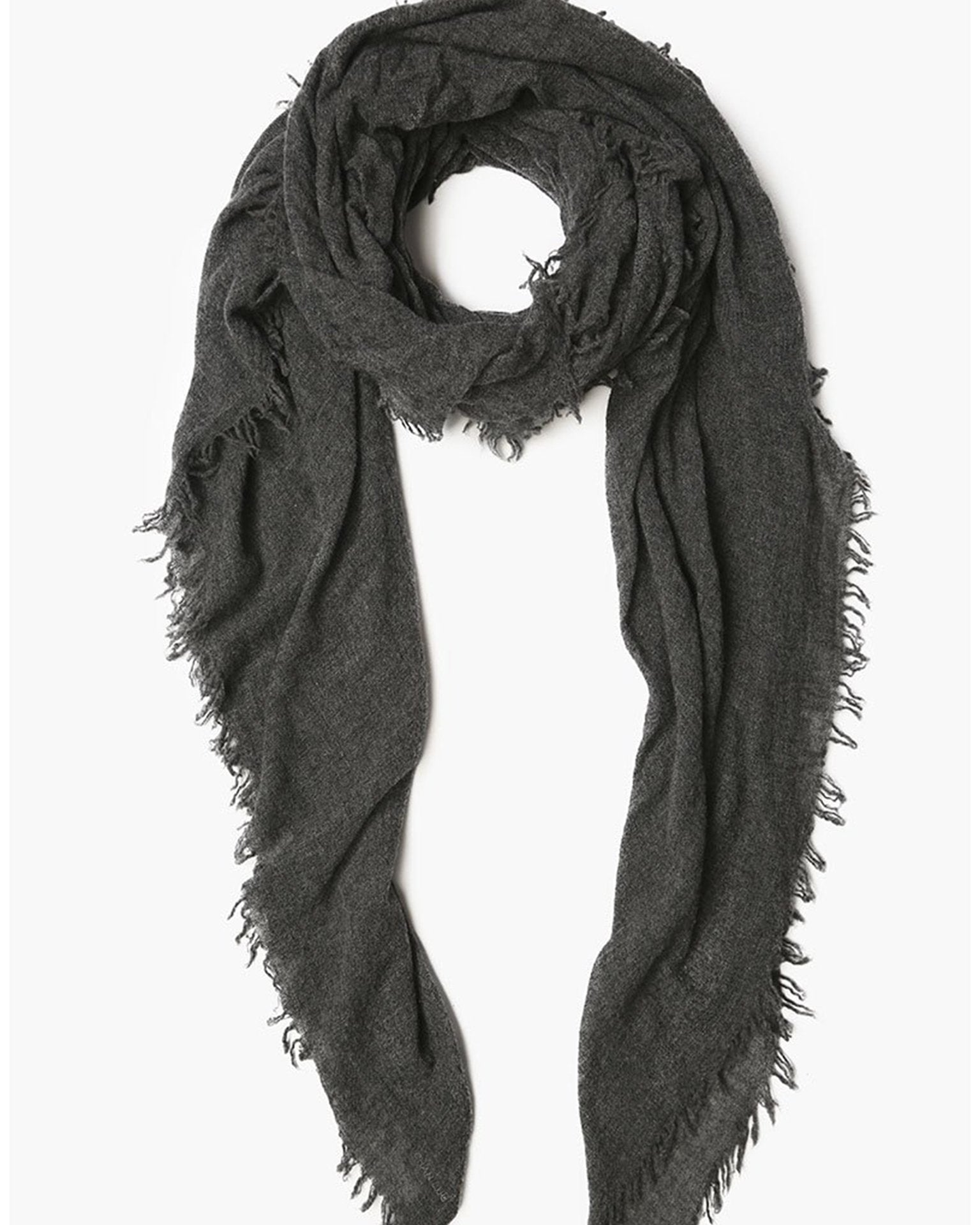 Chan Luu Accessories Charcoal / O/S Cashmere Scarf