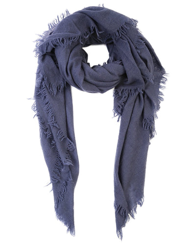 Chan Luu Accessories Navy Blue / O/S Cashmere Scarf
