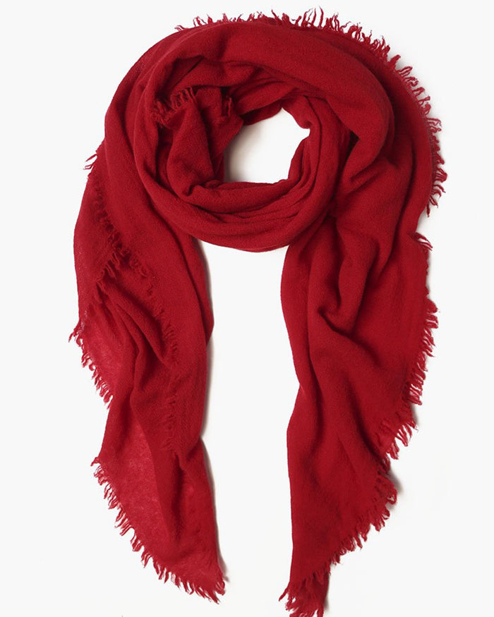 Chan Luu Accessories Red / O/S Cashmere Scarf