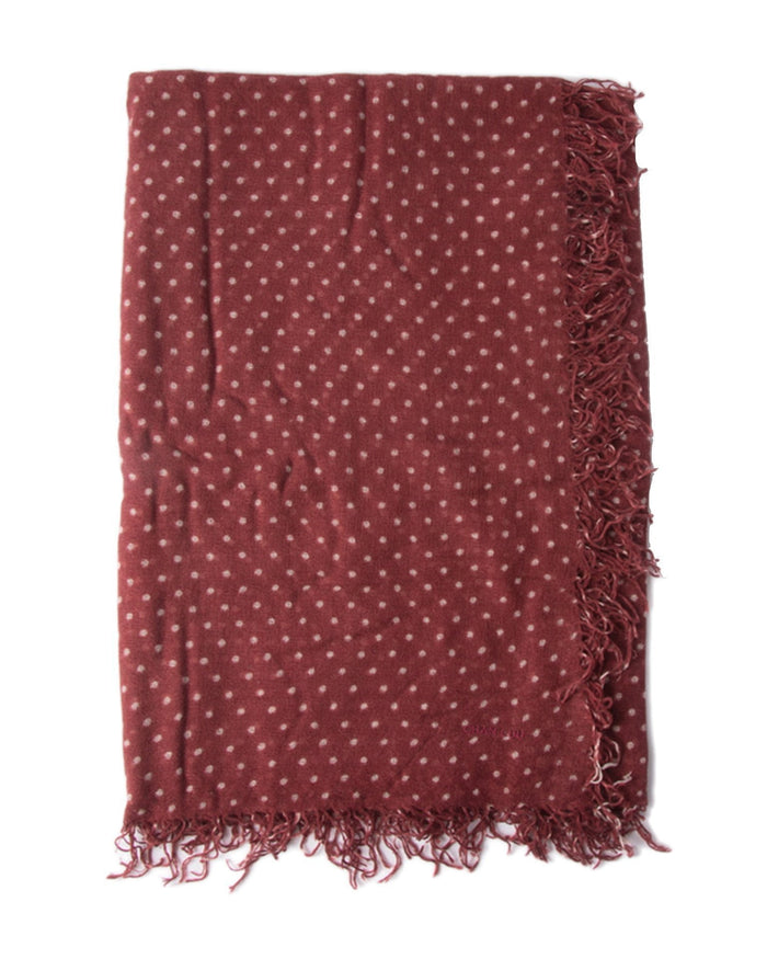 Chan Luu Accessories Cashmere & Silk Polka Dot Scarf in Red Pear