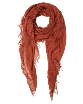 Chan Luu Accessories Cashmere & Silk Scarf in Auburn