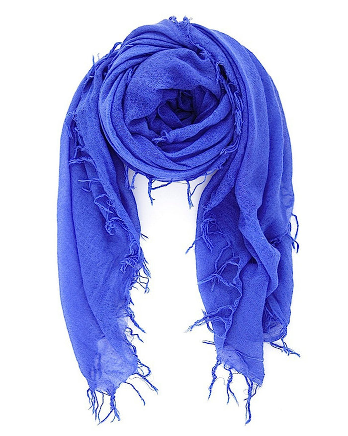 Chan Luu Accessories Cashmere & Silk Scarf in Baja Blue