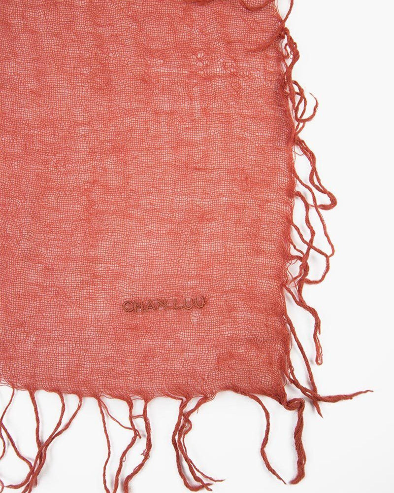 Chan Luu Accessories Cashmere & Silk Scarf in Barn Red