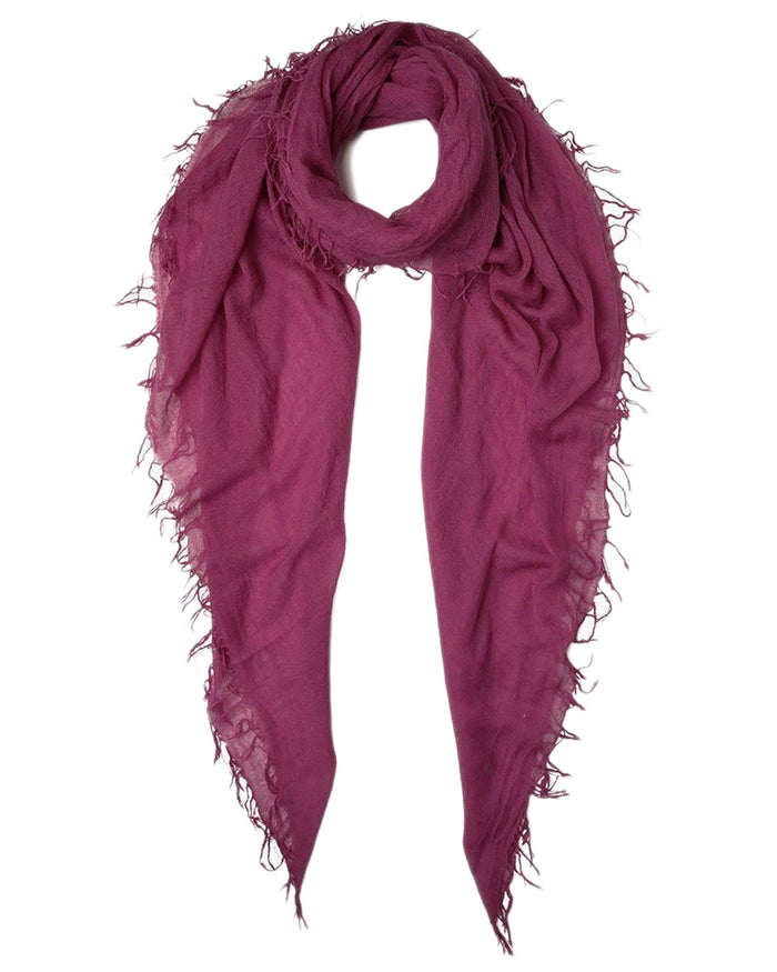 Chan Luu Accessories Cashmere & Silk Scarf in Berry Jam