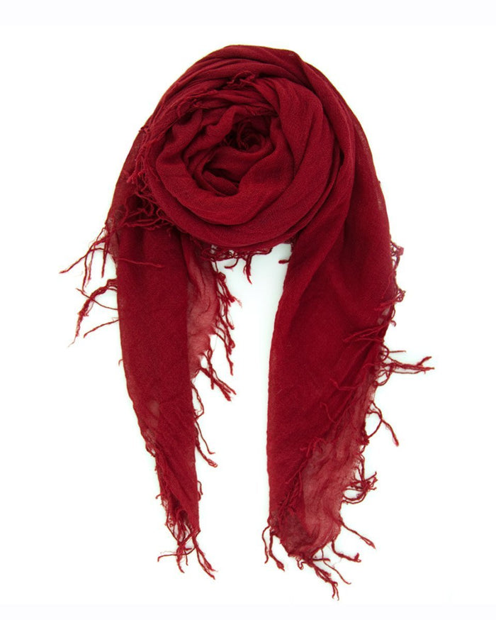 Chan Luu Accessories Cashmere & Silk Scarf in Biking Red