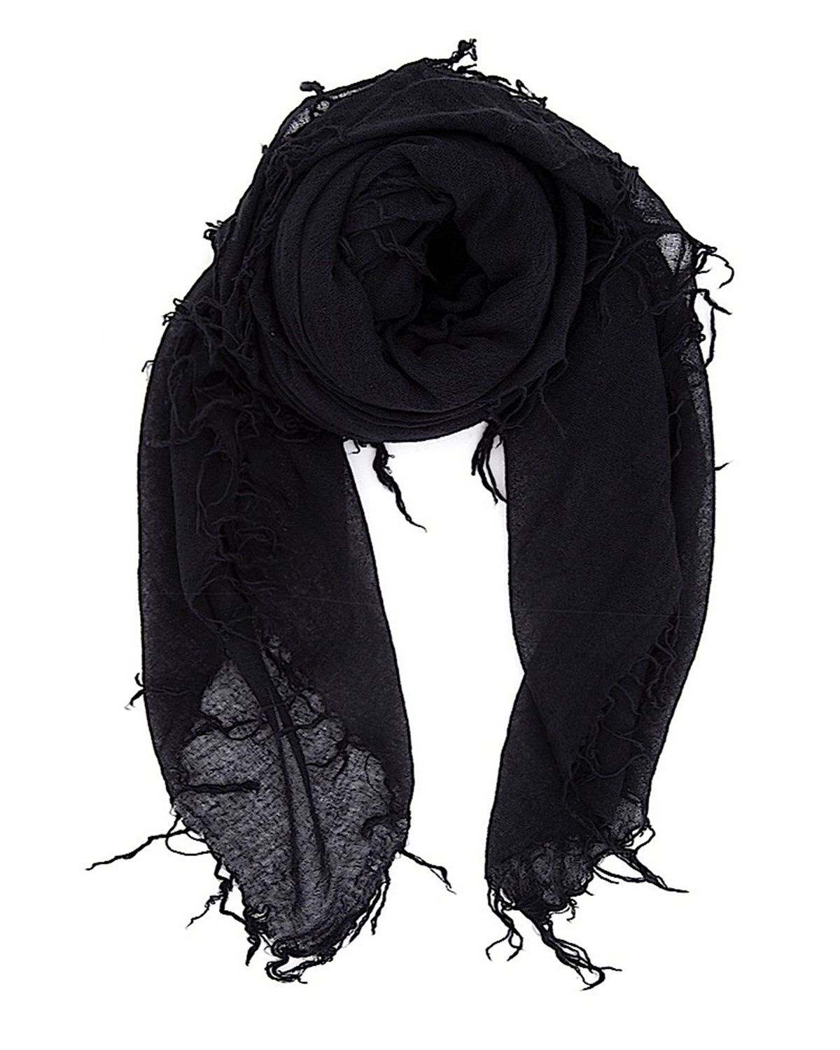 Chan Luu Accessories Cashmere & Silk Scarf in Black