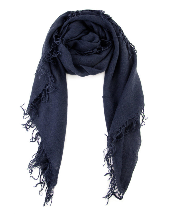 Chan Luu Accessories Cashmere & Silk Scarf in Blue Night