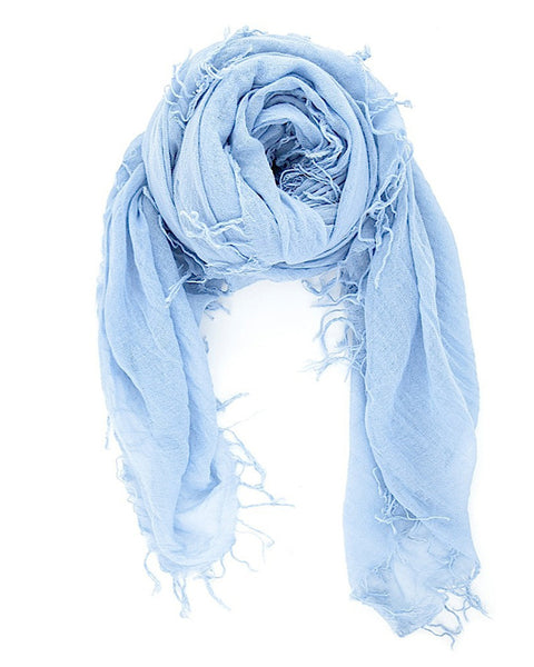 Chan Luu Accessories Cashmere & Silk Scarf in Cashmere Blue
