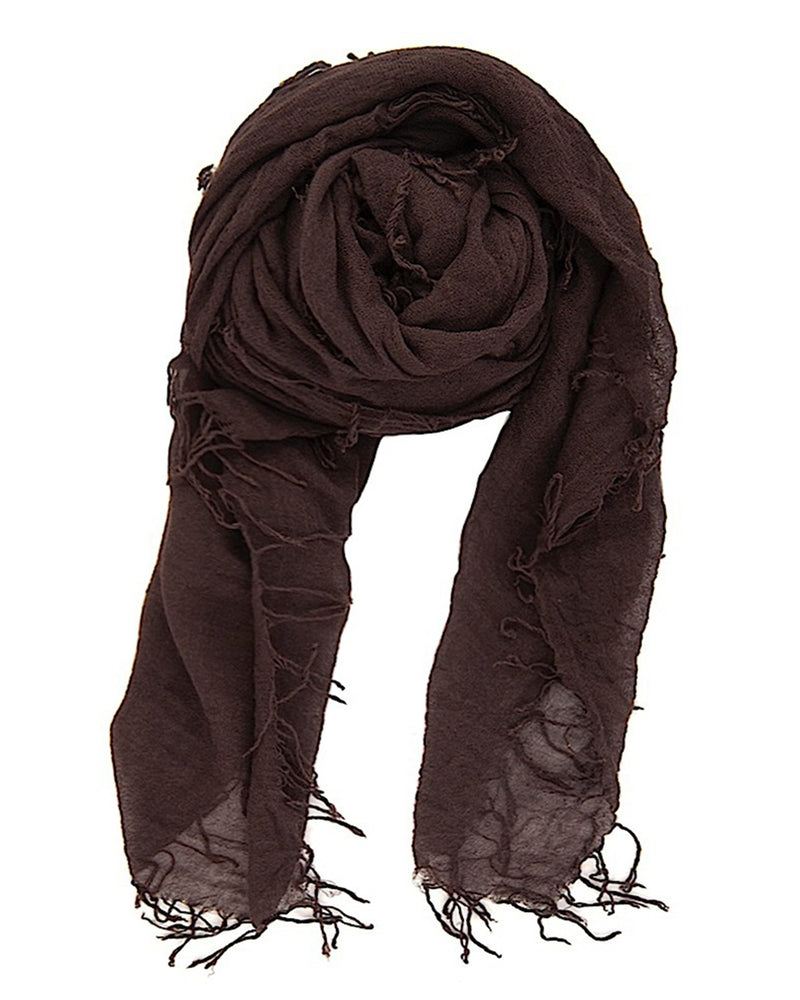 Chan Luu Accessories Cashmere & Silk Scarf in Chocolate