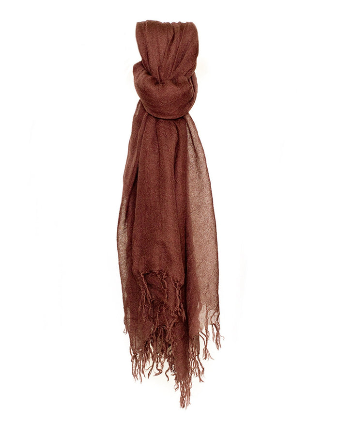 Chan Luu Accessories Cashmere & Silk Scarf in Cinnamon