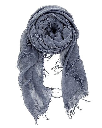 Chan Luu Accessories Cashmere & Silk Scarf in Cloud Grey