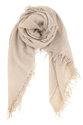 Chan Luu Accessories Cashmere & Silk Scarf in Doeskin