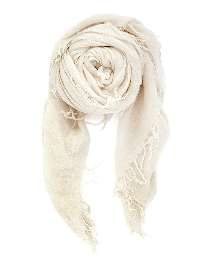 Chan Luu Accessories Cashmere & Silk Scarf in Eggshell