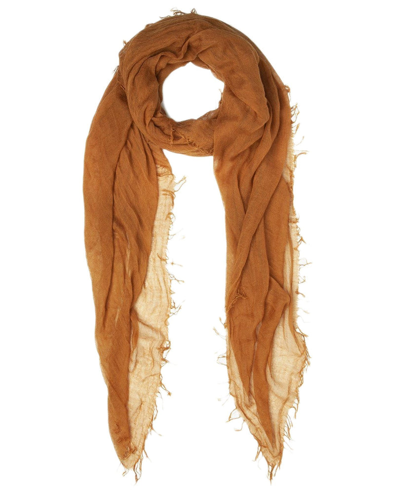 Chan Luu Accessories Cashmere & Silk Scarf in Glazed Ginger